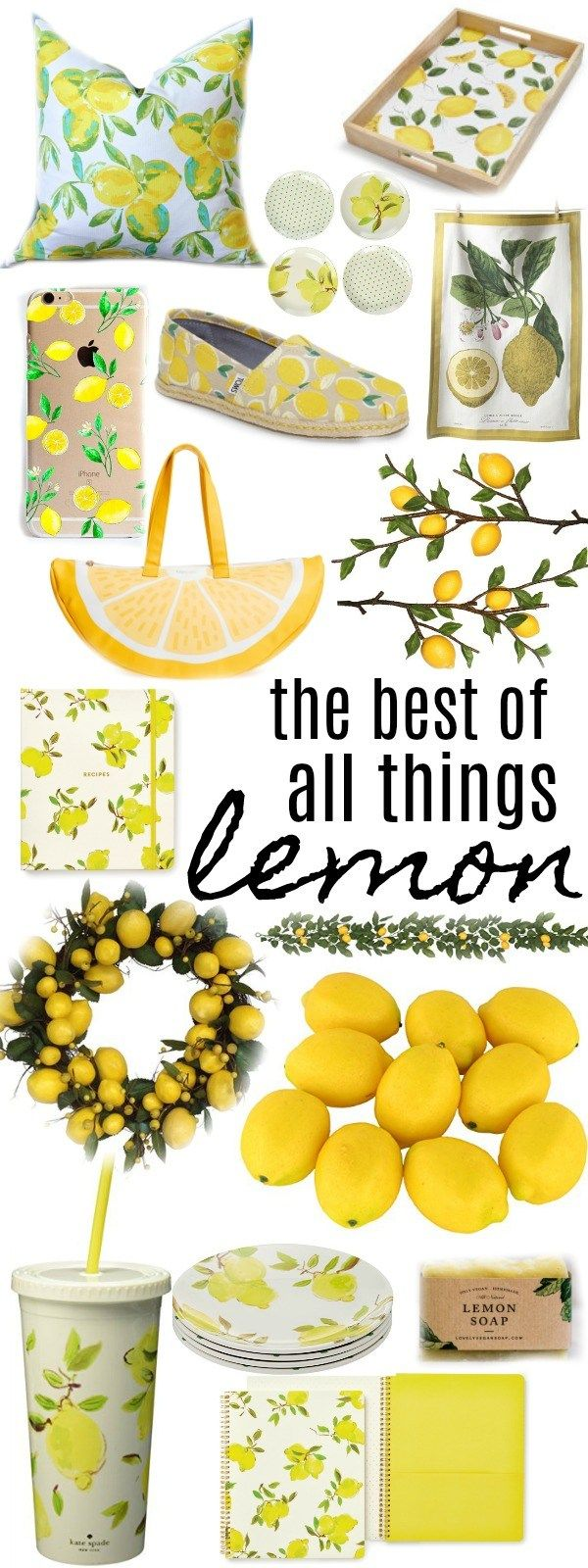 Farmhouse Lemon Decor  Lemon decor, Lemon kitchen decor, Yellow