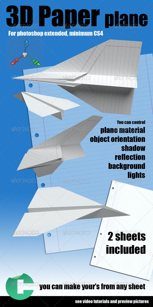 3d Object - Paper Plane #GraphicRiver This product is