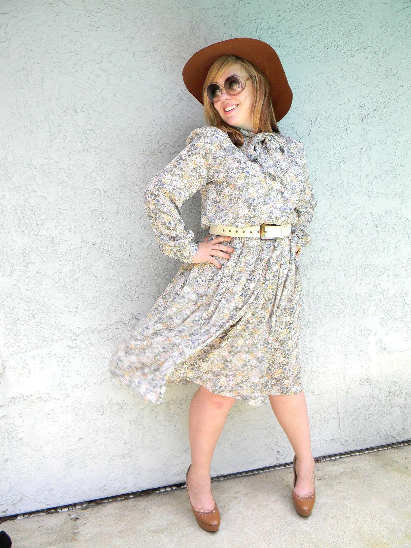 Plus Size Summer Dress - Vintage 80s Shirt Waist Semi Sheer ...
