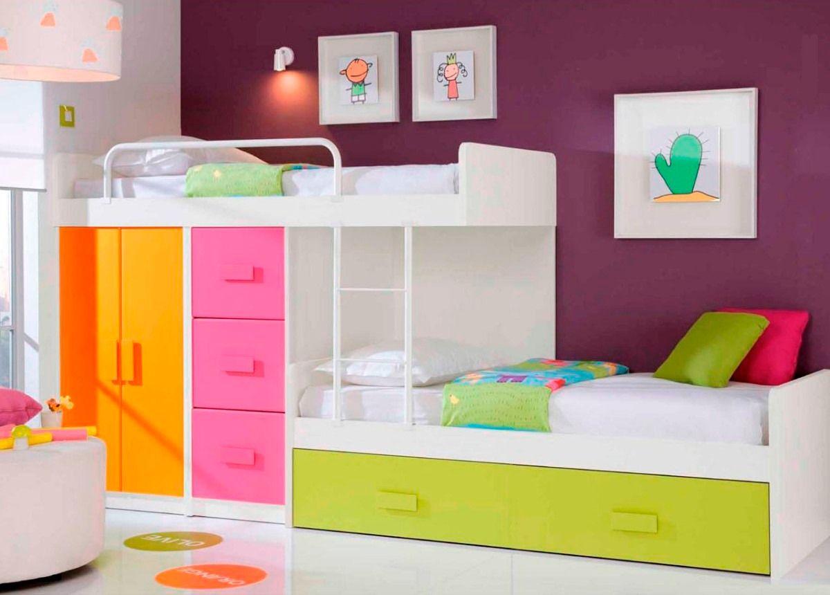 Dormitorio Infantil Con Cama Deslizante - $ 8.950,00 en MercadoLibre