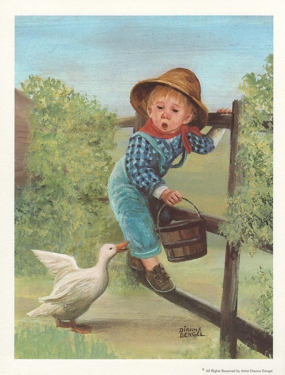 Duck Boy – Dianne Dengel Print