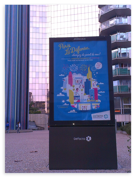 illustration Clod pour Affiche Defacto Paris la Défense