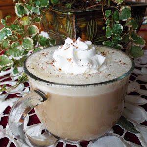 Coconut White Chocolate Latte With Milk, White Chocolate Chips, Cream Of Coconut, Vanilla, Coffee, Whipped Cream