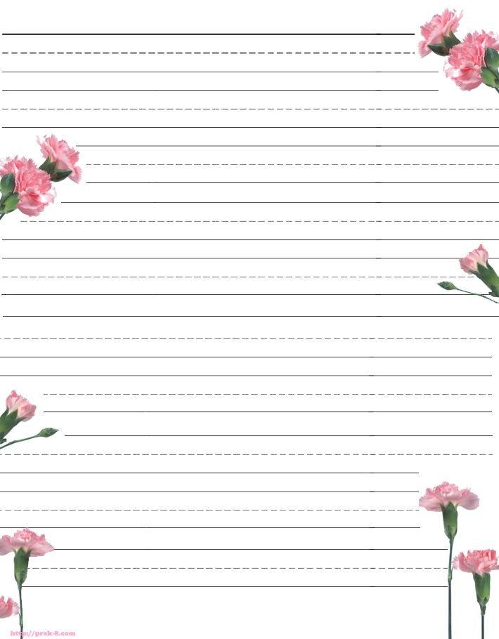 Free printable kids Motheru0027s Day writing paper Description from - elementary lined paper template