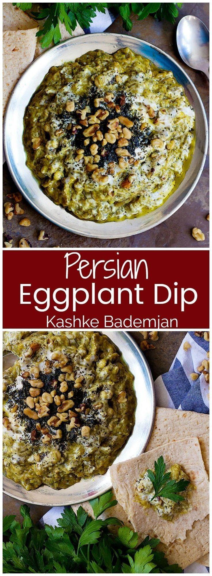 Kashke bademjan persian eggplant dip unicorns in the