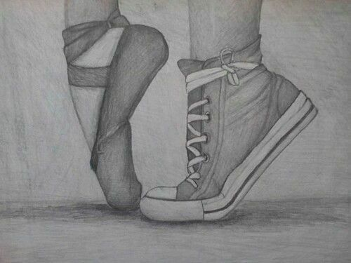 Imagem De Ballet Drawing And Converse