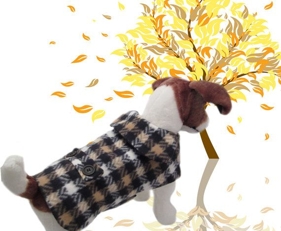 The Cozy Canine Dog CoatMedium Fleece Winter Warm OOAK