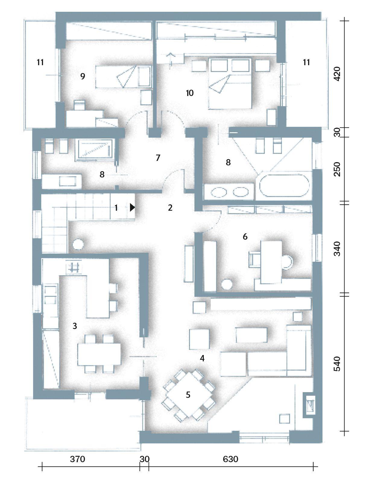 Casa 60 Mq Pianta una casa moderna su livelli sfalsati (con immagini) | casa