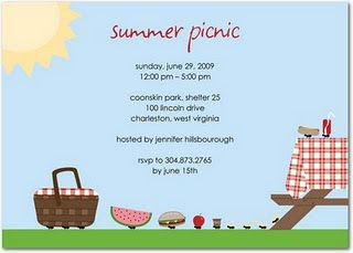 Picnic Party Picnic Invitations Summer Party Invitations Invitation Template