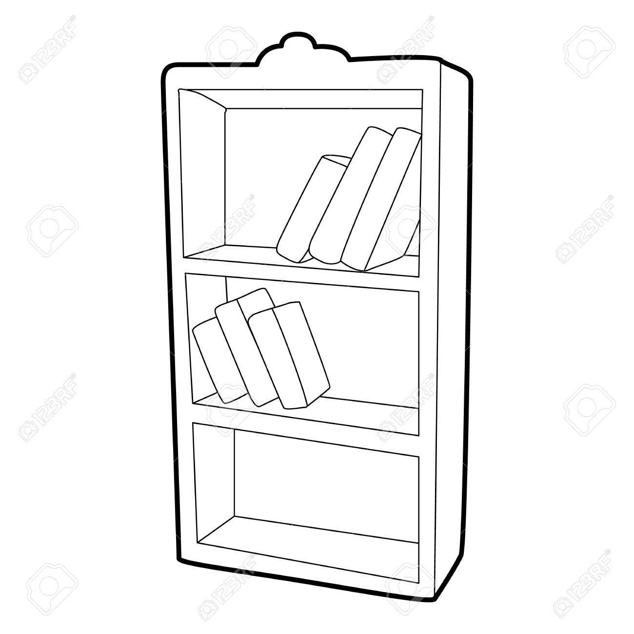 Bookcase Cartoon Black And White Bookshelf Art Book Clip Art Bookcase