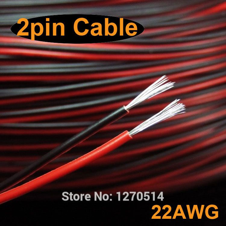 Tinned Copper 22awg 2 Pin Red Black Cable Pvc Insulated Wire 22 Awg Stranded Wire Electric Cable Led Electric Wire Cable Electricity Black Cables Cable