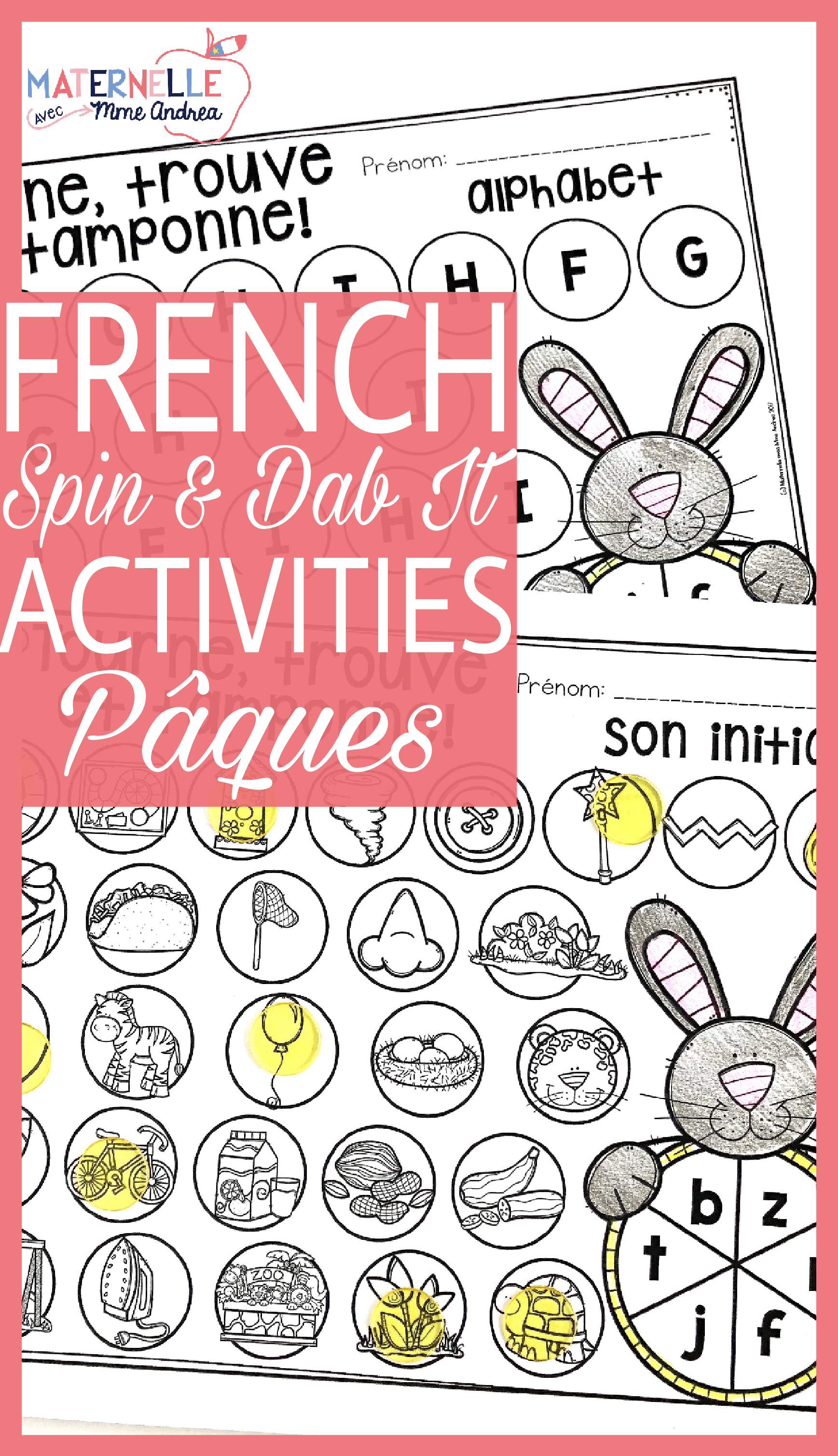 French Easter Math And Literacy Dab It Activities Paques