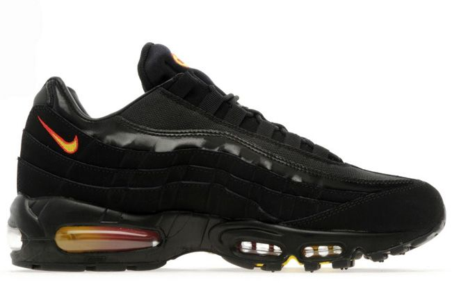 nike air max 95 black and cherry red