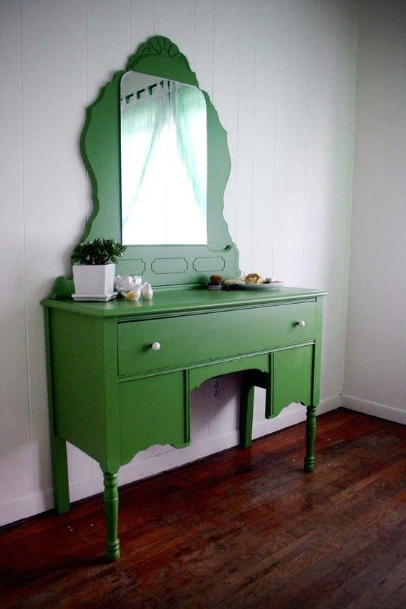 Spring green vanity!