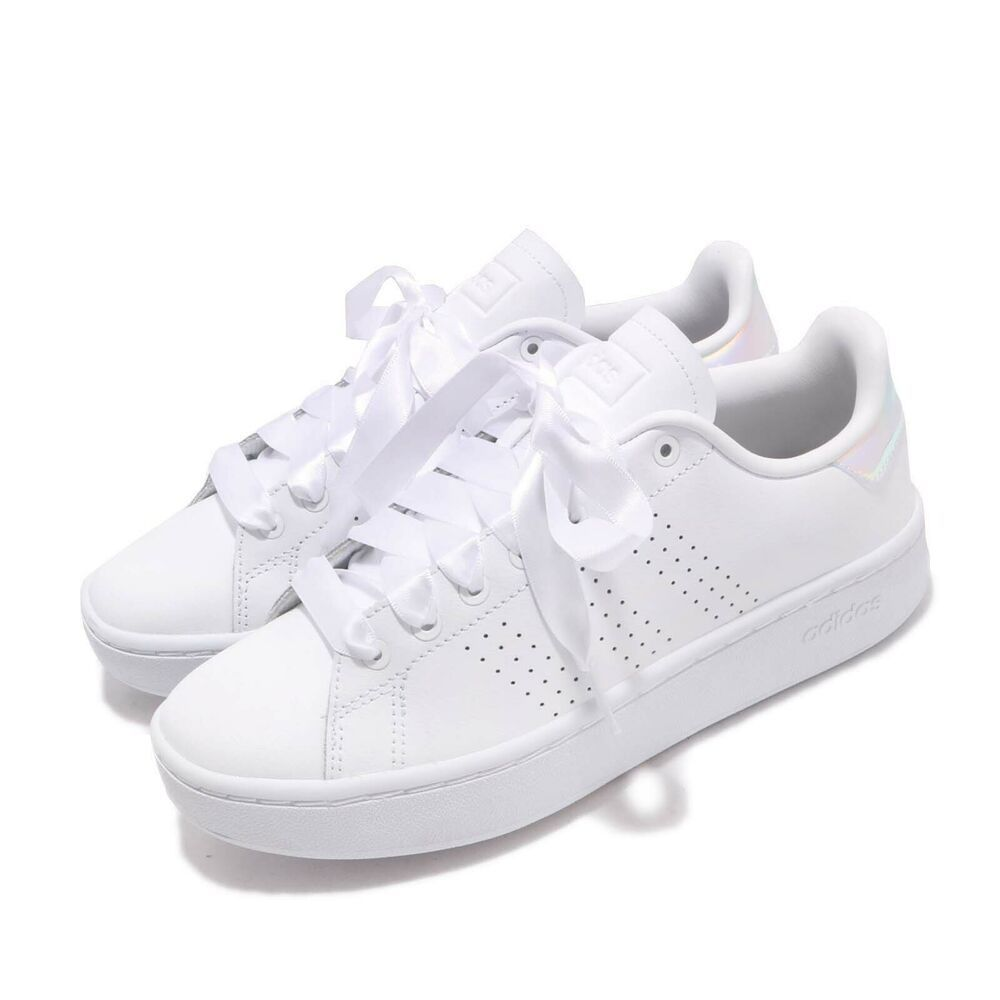 adidas Advantage Bold Iridescent Hologram White Women Casual ...