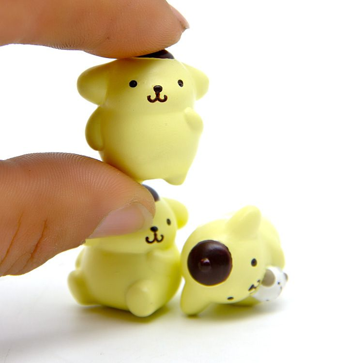New Arrival Japan Cute Pom Pom Purin & Muffin Squishy Action Figure More Styles Juguetes ...