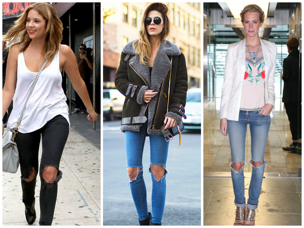22 best images about Ripped knee jeans on Pinterest | Blazers ...