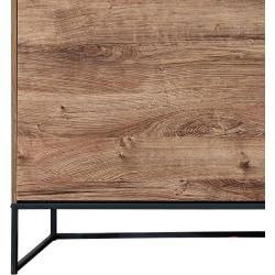 Photo of Industrial Design Sideboard in Haveleiche Cognac mit graphit Minneapolis-55 inkl. Led-beleuchtung B/