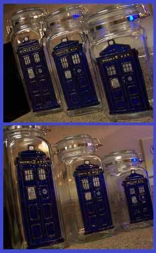 Handmade OOAK Tardis Kitchen Storage Jars Doctor Who 10th 11th | eBay