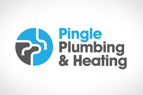 Pingle Plumbing And Heating Logo Keywords Heating A C Ac Air Conditioning Plumbing Insulation Plumbing Logo Design Plumbing Logo Logo Design Water