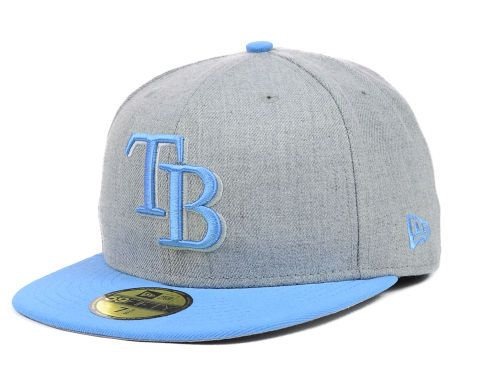 Tampa Bay Rays New Era MLB Heather Basic 59FIFTY Cap Hats  01697f6279e