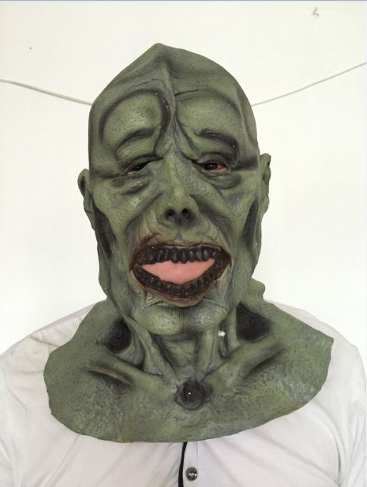 Halloween scary mask / Baotou green face mask / bar / mask / mace ...