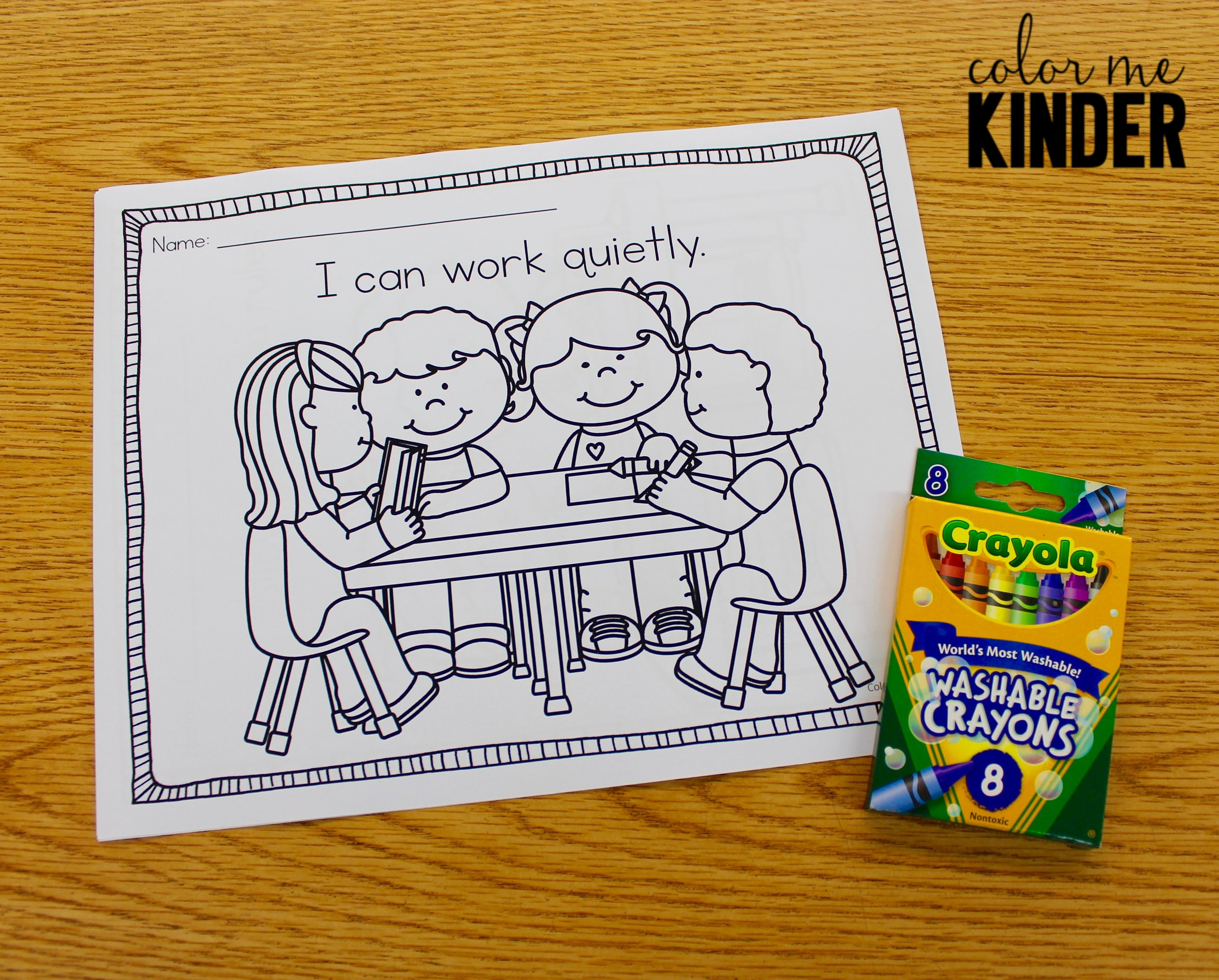 i can rules coloring sheets for pre k and k and