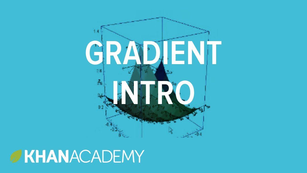 Gradient 1   Partial derivatives, gradient, divergence, curl
