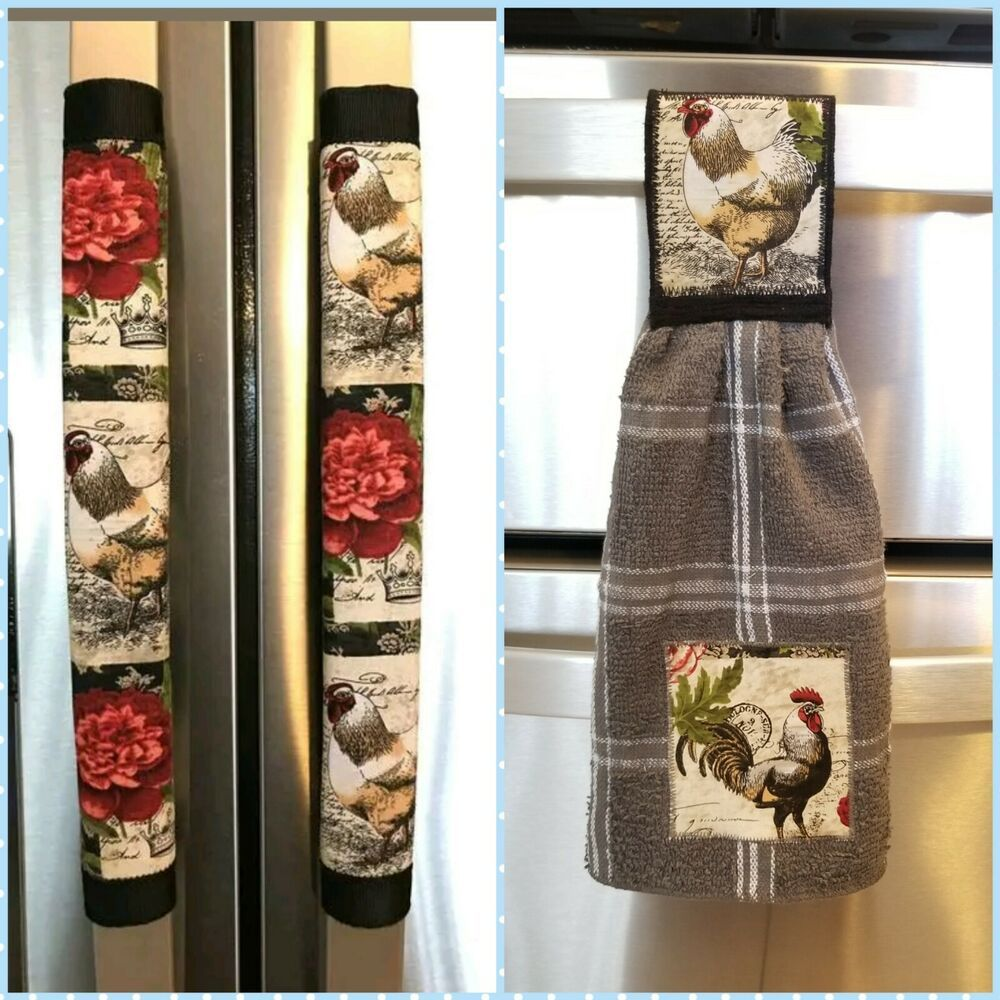 Refrigerator Door Handle Covers Set of Two Festive Cactus Theme 13L X 5W