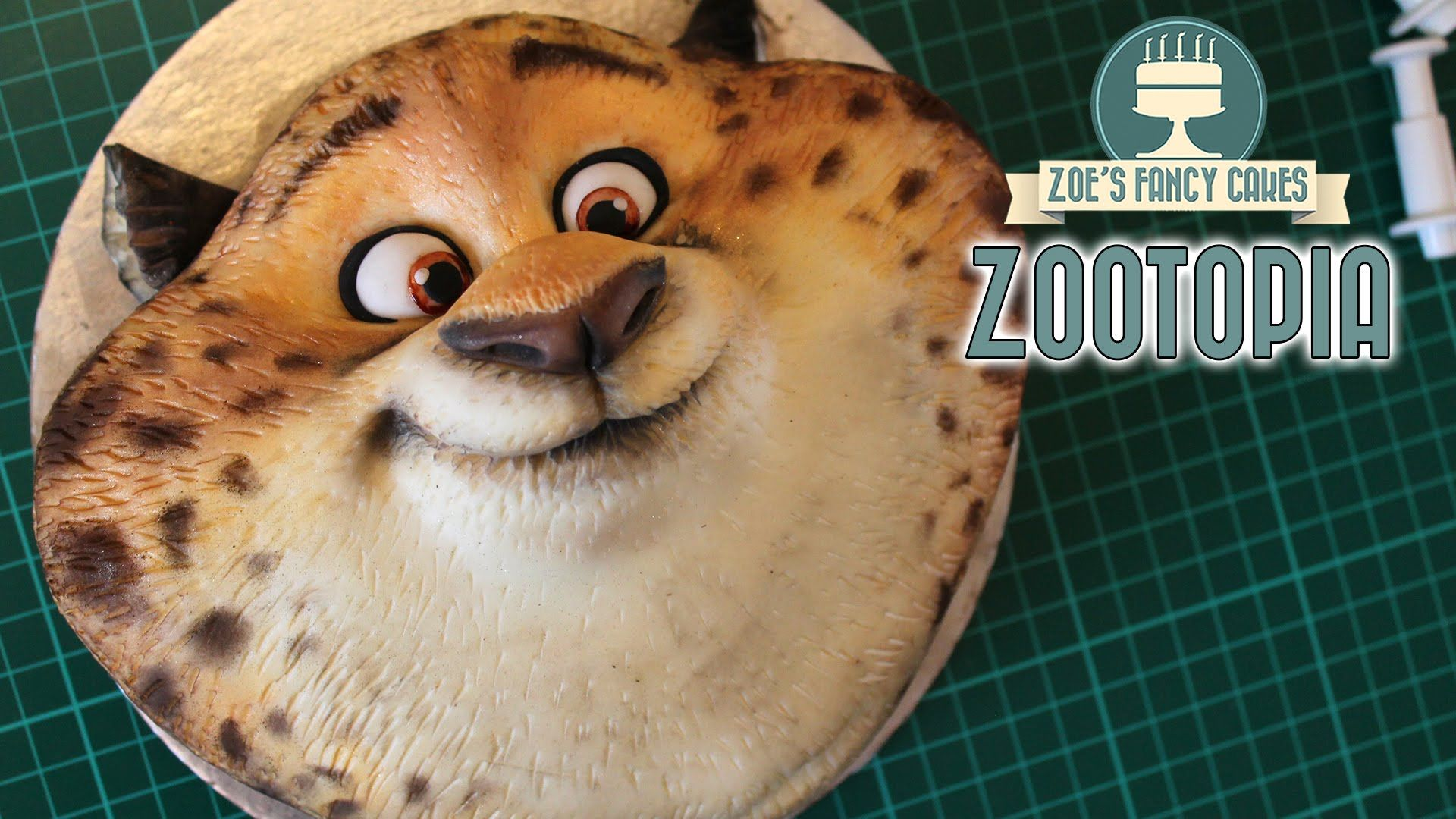 Zootopia Cake Officer Clawhauser Zootropolis Disney Cakes And