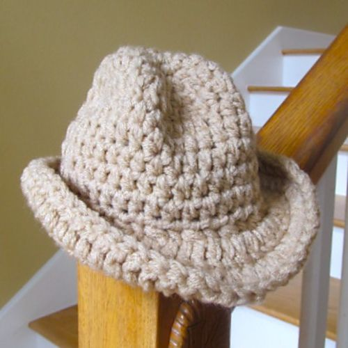 Knitting Pattern For Baby Cowboy Hat : LBK63s Baby Cowboy Hat- Version 2 Babies, Cowboys and ...
