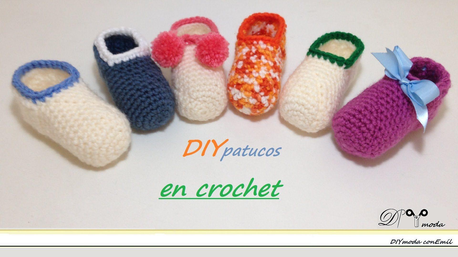 Cómo tejer zapatitos o patucos de bebé en crochet. DIY moda con Emil ...