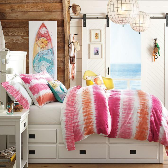 Reef Tie Dye Duvet Cover Sham Girls Bedroom Furniture Bedroom