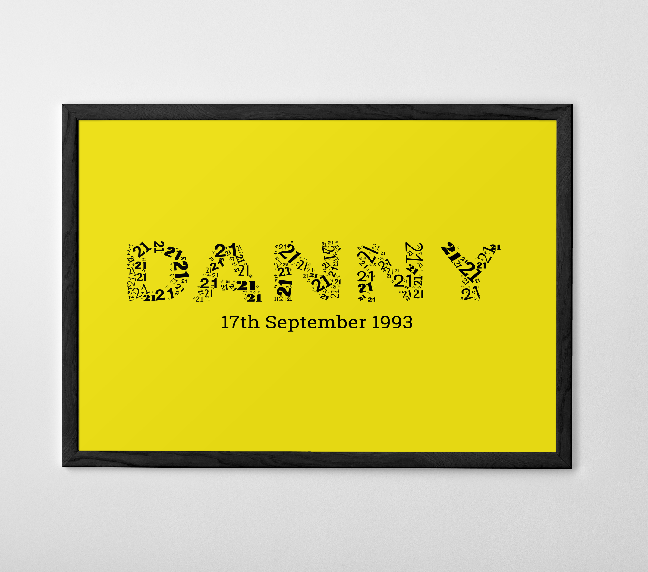 Dannys Birthday Word On Words Print Gifts Colour Art