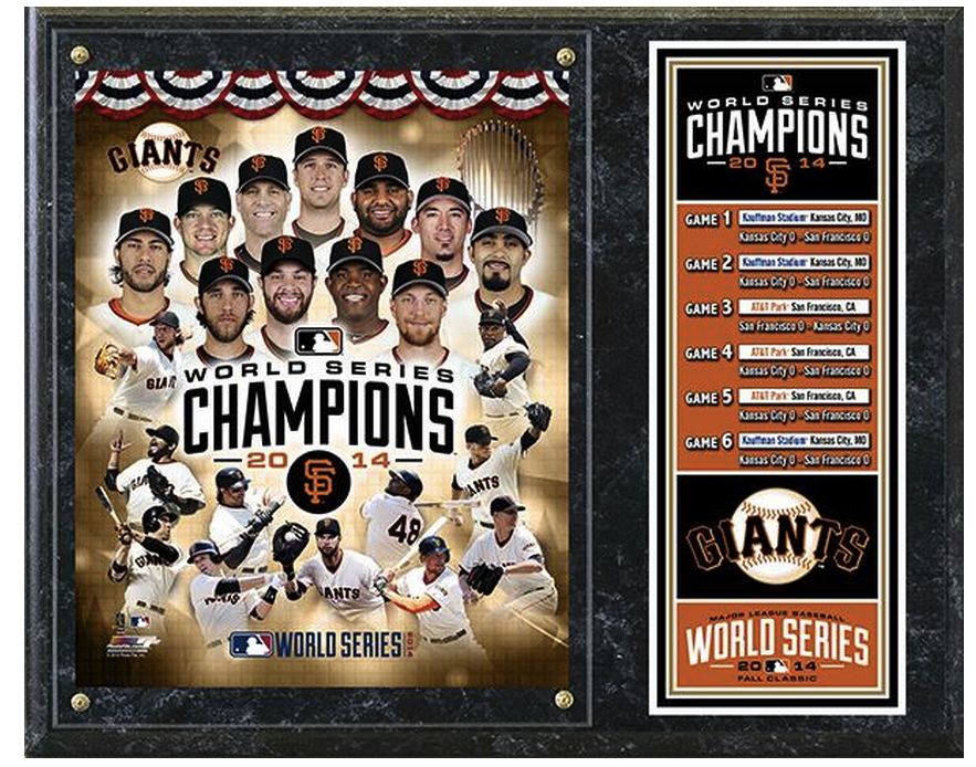 San Francisco Giants 2014 World Series Champions Commemorative 15 X 12 Plaque 2014 World Series World Series Kitchen Design Pictures