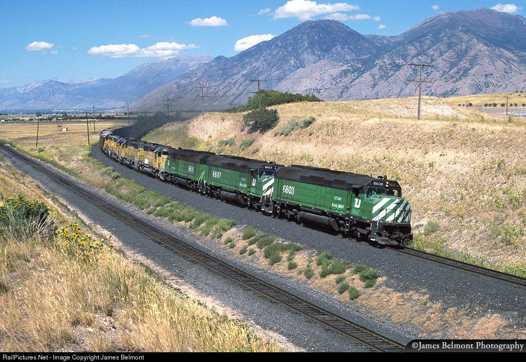 RailPictures.Net Photo: UTAH 6608 Utah Railway Company EMD F45 at Mapleton, Utah by James Belmont #utahusa