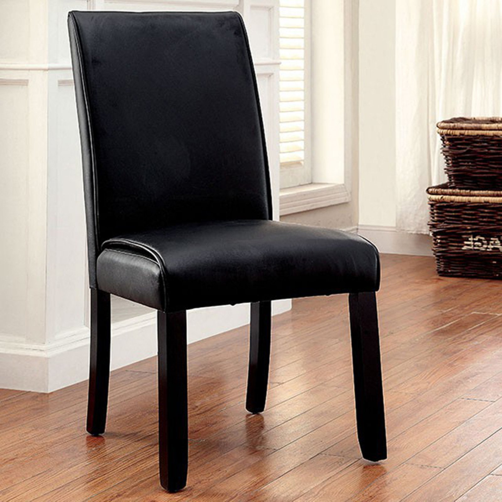 Benzara Grandstone I Faux Leather Parsons Dining Chair Set Of 2