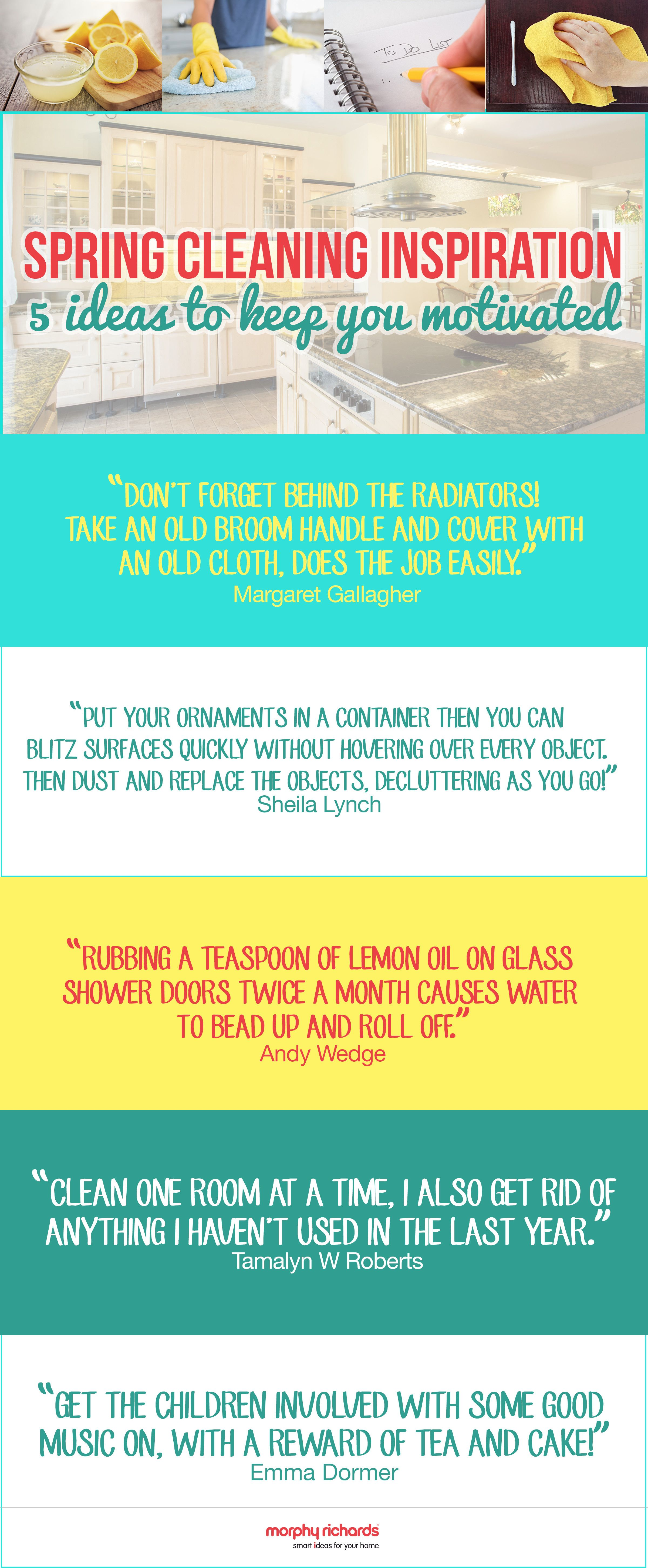 Spring Cleaning Quotes 5 Top Tip Quotes From Morphy Richards Fans For Spring Cleaning