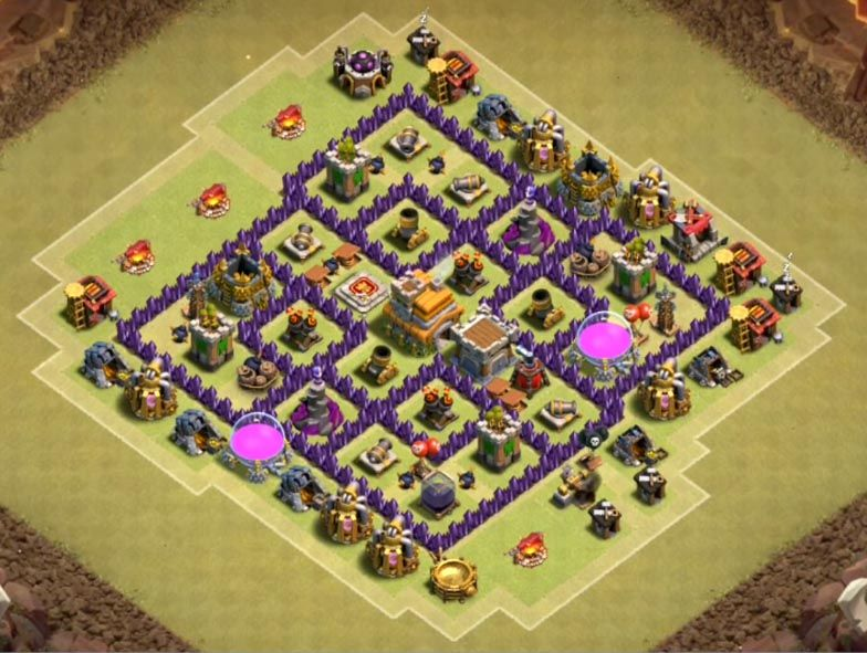 coc war bases th 7