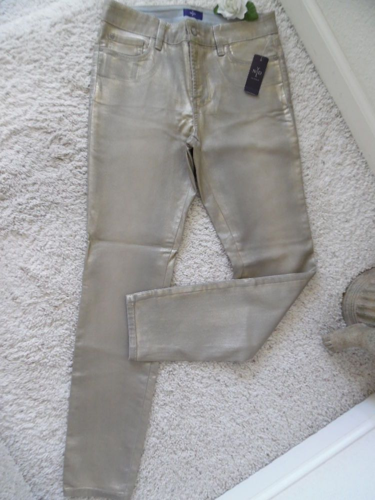 BNWT NOT YOUR DAUGHTER'S JEANS 8 LEGGING~NYDJ LIFTTUCK LIGHT GOLD WAIST 31~$124 #NotYourDaughtersJeans #LEGGING