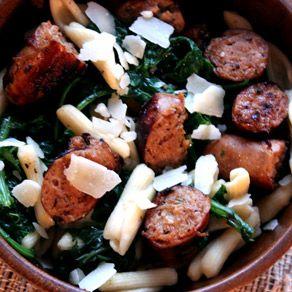 recipe: premio chicken sausage with kale [20]