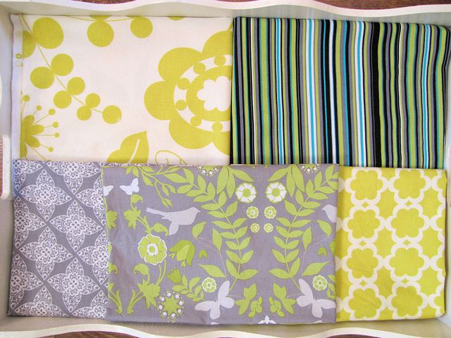 Chartreuse And Grey Grey Decor Green Stripes