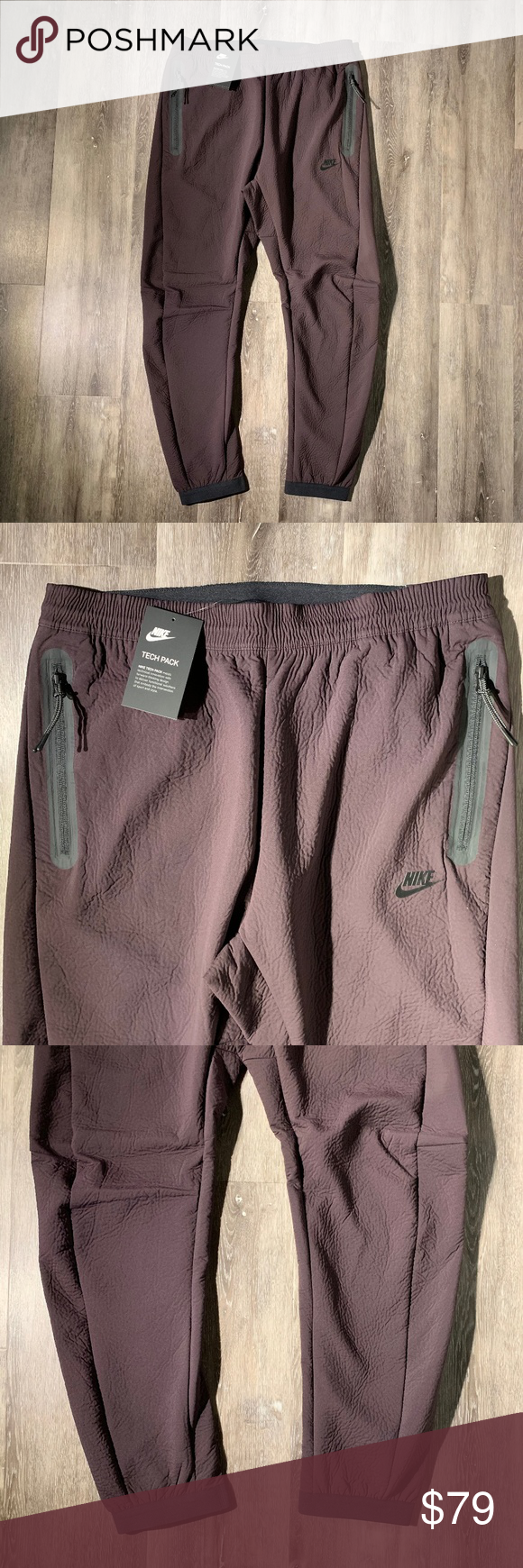Nike Sportswear Tech Pack Woven Pants Tracksuit NWT Nike Sportswear Men's Tech Pack Woven Pants Tracksuit Burgundy Large * New with tags * Size ...