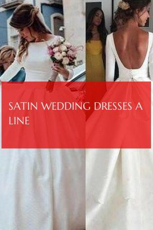 Satin Wedding Dresses A Line Satin Brautkleider Eine Linie
