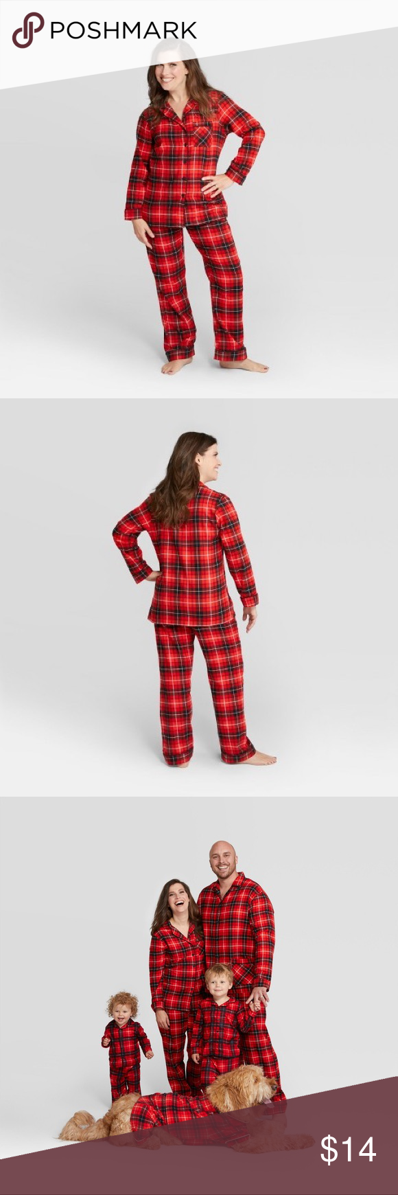 Target Christmas Pajamas Worn and washed a few