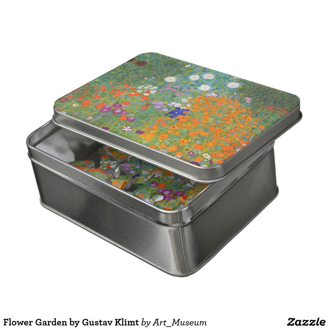 Flower Garden By Gustav Klimt Jigsaw Puzzle Zazzle Com Klimt Gustav Klimt Colorful Paintings