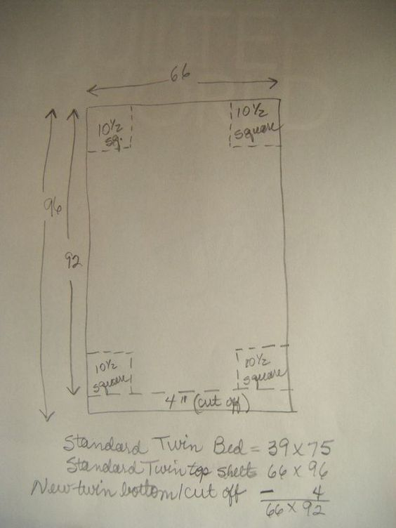 How To Make Twin Ed Sheet Out Of Flat With Measurements