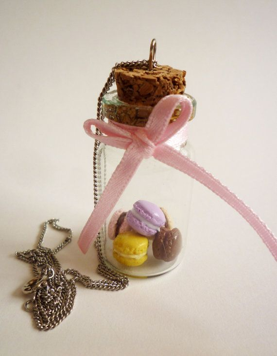 Bottle Necklace  Kawaii Deco Sweets/ Sweet by HoriSweetsandFaeries, ¥1000