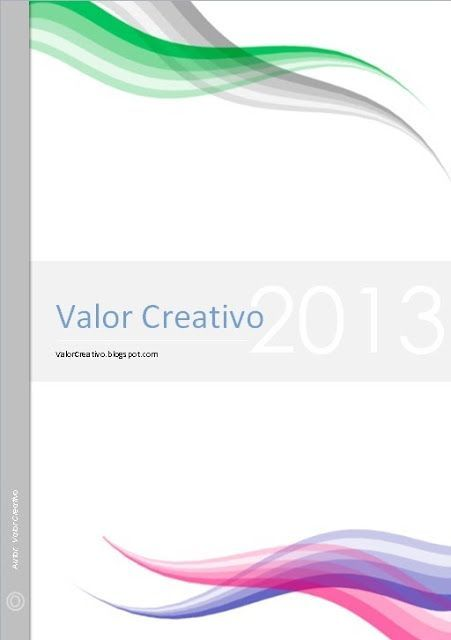 Valor Creativo Portadas Word yaneira Pinterest Creativo