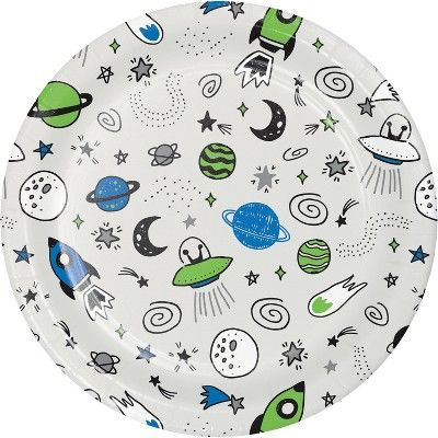 10ct Space Printed Paper Plates - Spritz™  Target  sc 1 st  Pinterest & Spritz 10ct Space Printed Paper Plates